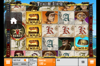 Treasure Island Mobile Slot Reels