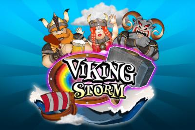 Viking Storm Mobile Slot Logo