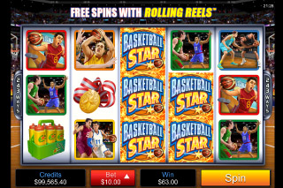 Basketball Star Mobile Slot Wilds