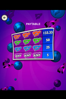 Crazy 7 Mobile Slot Paytable