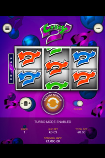 Crazy 7 Mobile Slot Reels