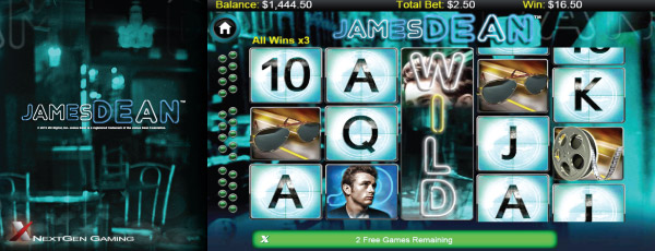 James Dean Mobile Slot Screenshot
