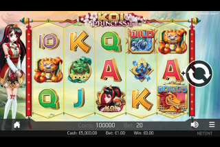 Koi Princess Mobile Slot Reels