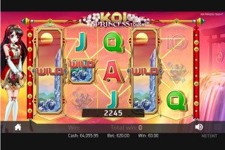 Koi Princess Mobile Slot Wild Reels