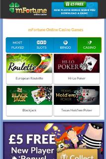 mFortune Mobile Casino Games