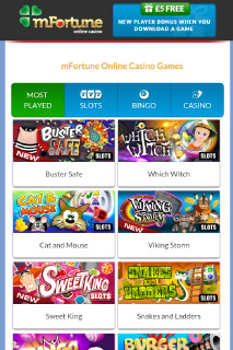 mFortune Mobile Casino Slots Lobby
