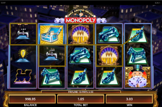 Monopoly Once Around Deluxe Mobile Slot Reels