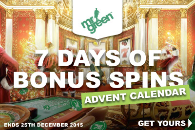 Get Your Mr Green Bonus Spins This Christmas
