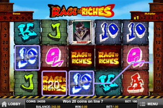 Rage to Riches Mobile Slot Reels