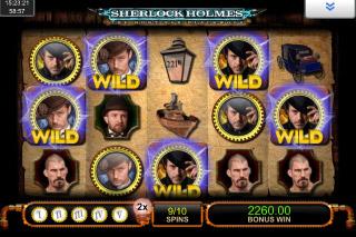 Sherlock Holmes Mobile Slot Bonus Spins