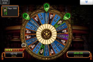 Sherlock Holmes Mobile Slot Bonus Wheel