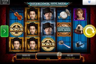 Sherlock Holmes Mobile Slot Reels