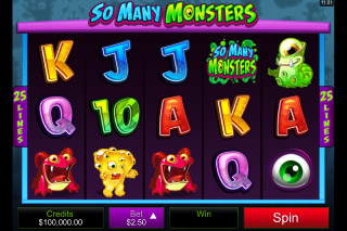So Many Monsters Mobile Slot Reels