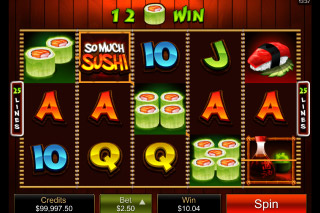 So Much Sushi Mobile Slot Reels