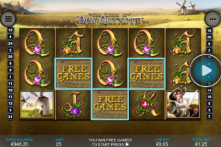 The Riches Of Don Quixote Mobile Slot Reels