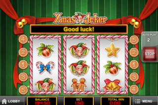 Xmas Joker Mobile Slot Reels
