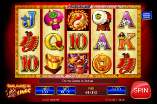 Dragon Lines Mobile Slot Reels