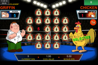 Family Guy Mobile Slot Chicken Fight Bonus