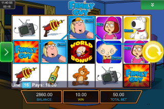Family Guy Mobile Slot Reels