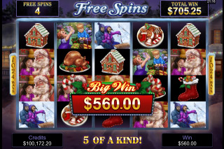 Happy Holidays Mobile Slot Free Spins Bonus