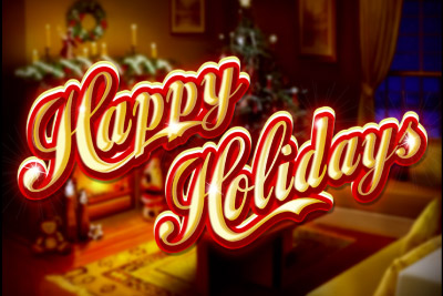 Happy Holidays Mobile Slot Logo