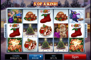 Happy Holidays Mobile Slot Reels