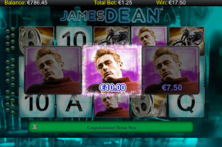 James Dean Mobile Slot Bonus