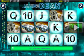 James Dean Mobile Slot Reels