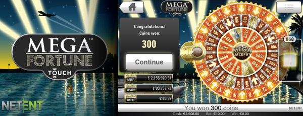 Mega Fortune Mobile Slot Jackpot Wheel Example