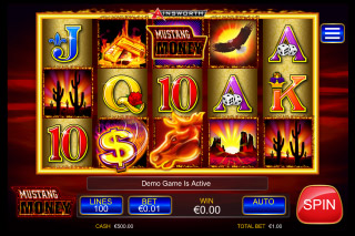 Mustang Money Mobile Slot Reels