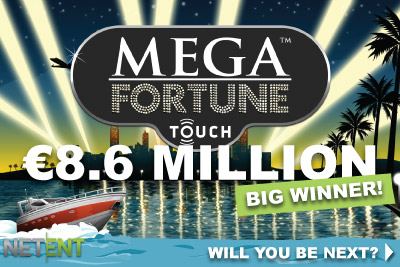 NetEnt Mega Fortune Touch Jackpot Slot Winner