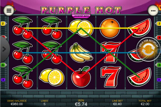 Purple Hot Mobile Slot Win