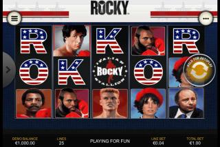 Rocky Mobile Slot Reels