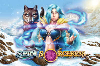 Spin Sorceress Mobile Slot Logo