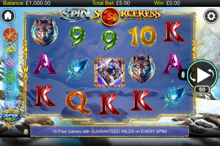 Spin Sorceress Mobile Slot Reels