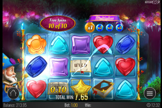 Wizard of Gems Mobile Slot Free Spins