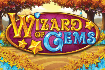 Wizard of Gems Mobile Slot Logo