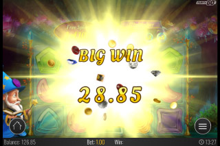 Wizard of Gems Mobile Slot Big Win