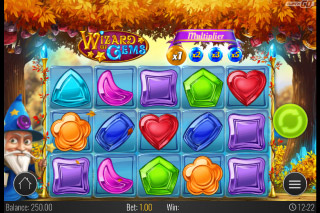 Wizard of Gems Mobile Slot Reels