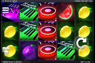 DJ Wild Mobile Slot Reels