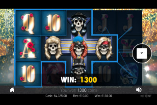 Guns N Roses Mobile Slot Cross Wilds