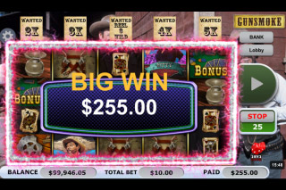 Gunsmoke Mobile Slot Big Win
