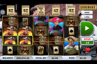 Gunsmoke Mobile Slot Reels