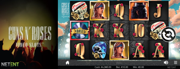 Guns N Roses Touch Slot Preview
