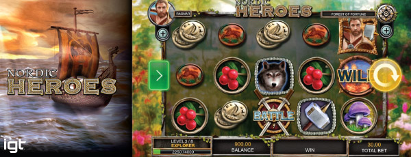 New IGT Nordic Heroes Mobile Slot Preview