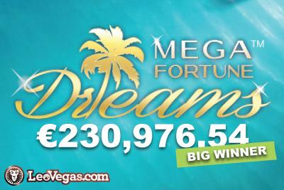 NetEnt Mega Fortune Dreams Big Winner