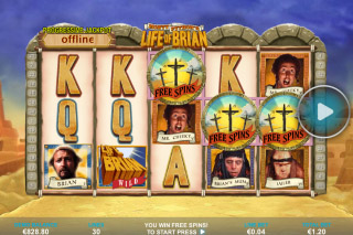Life of Brian Mobile Slot Reels