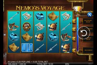 Nemos Voyage Mobile Slot Reels