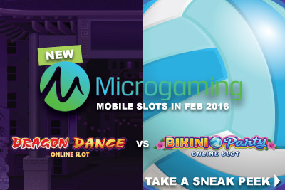 New Microgaming Mobile Slots In February 2016