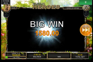 Nordic Heroes Mobile Slot Big Win